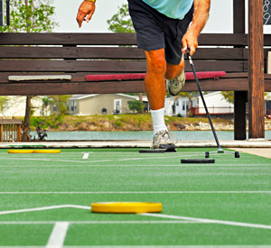 Shuffleboard courts at Yuma Lakes Resort
