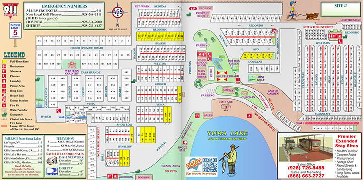 Yuma Lakes Resort - Resort Map